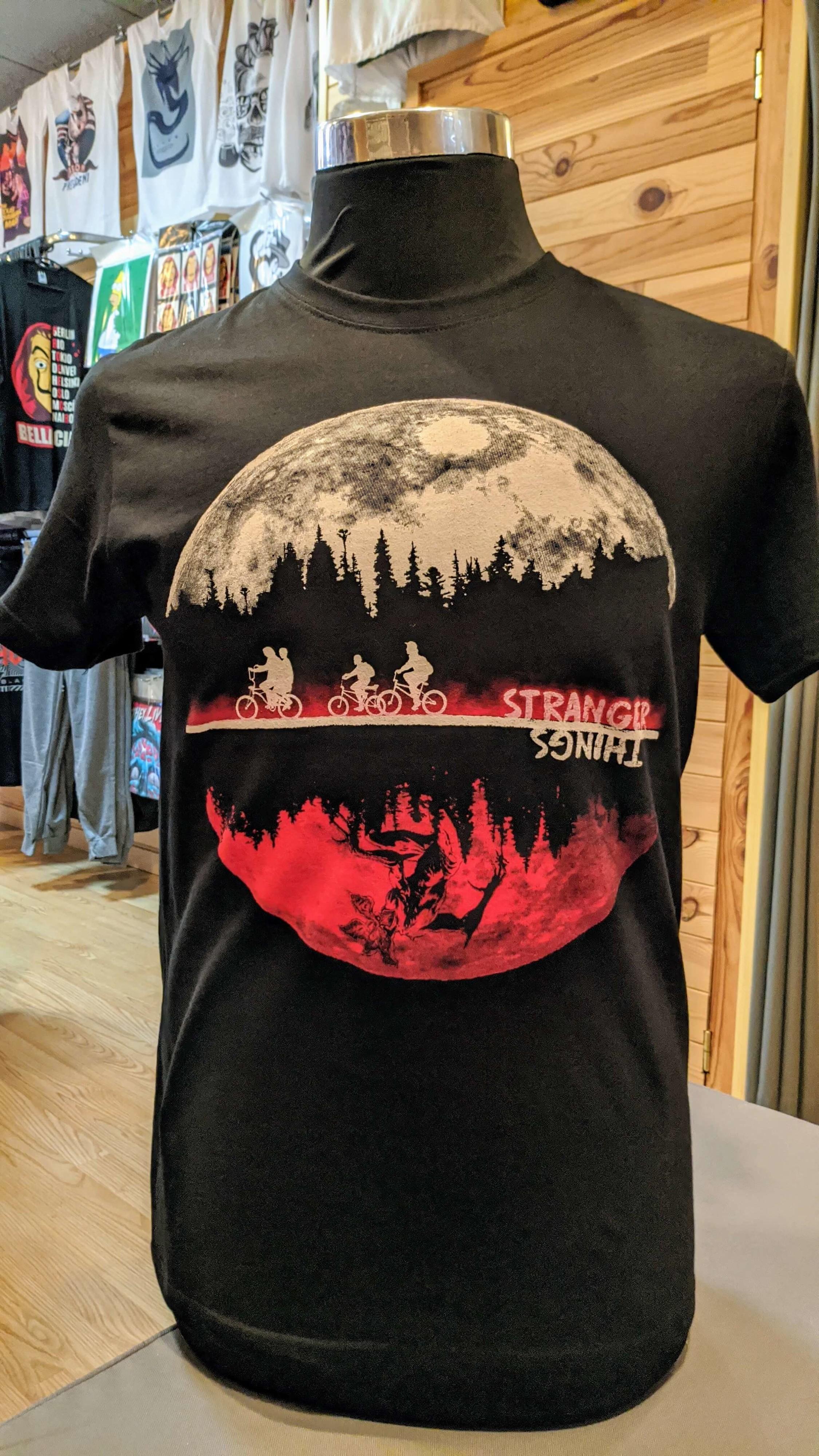 Camiseta Stranger Things Ni/ña Camiseta Stranger Things Ni/ños Unisex Mujer Impresi/ón T-Shirt Manga Abecedario Stranger Things Impresi/ón Regalo Camisa Verano Camisetas y Tops
