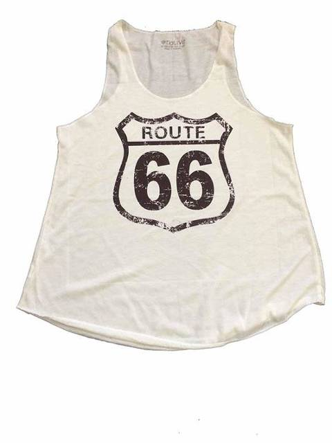 Route 66 logo 2 beige