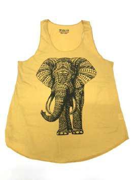 Elefante tribal amarilla