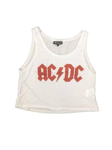 Ac Dc logo blanca
