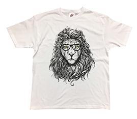 León con gafas 2 blanca