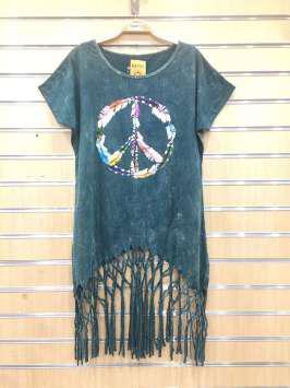 Paz hippie verde