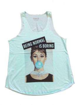 Being normal is boring turquesa