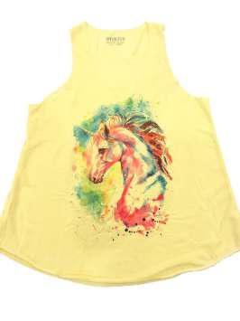 Cabeza unicornio amarilla