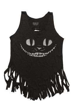 Gato sonriendo - flecos -