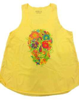 Calavera floral amarilla