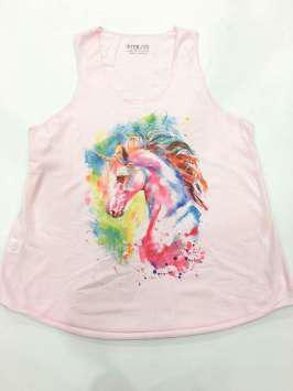 Cabeza unicornio rosa