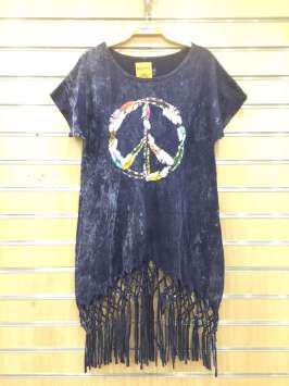 Paz hippie morada