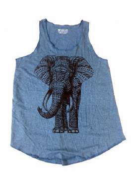 Elefante tribal azul