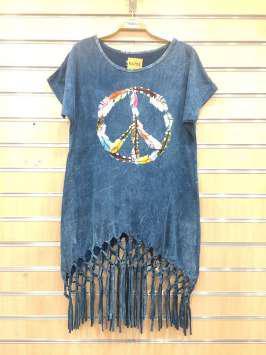 Paz hippie azul
