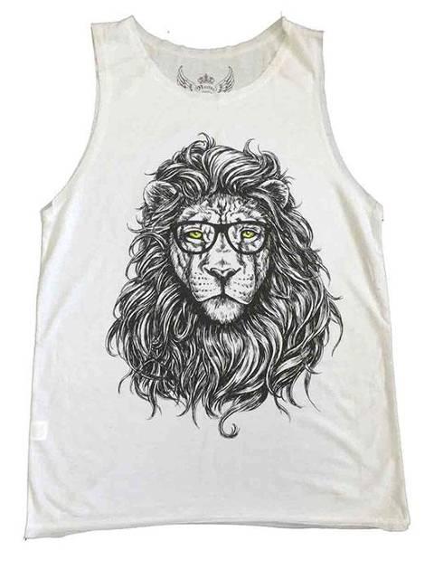 León con gafas 1 blanca