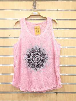 Corona tribal rosa