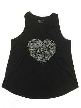 Corazón estampado negra