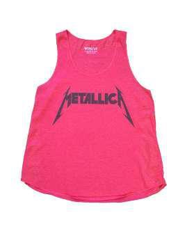 Metallica logo fuxia