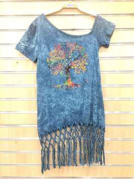 Árbol de la vida azul - Cuello ancho -