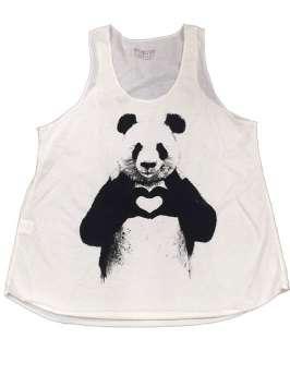 Happy panda blanca