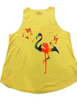 Flamenco mariposas amarilla