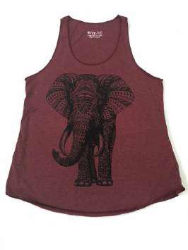 Elefante tribal granate