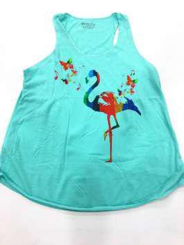 Flamenco mariposas turquesa
