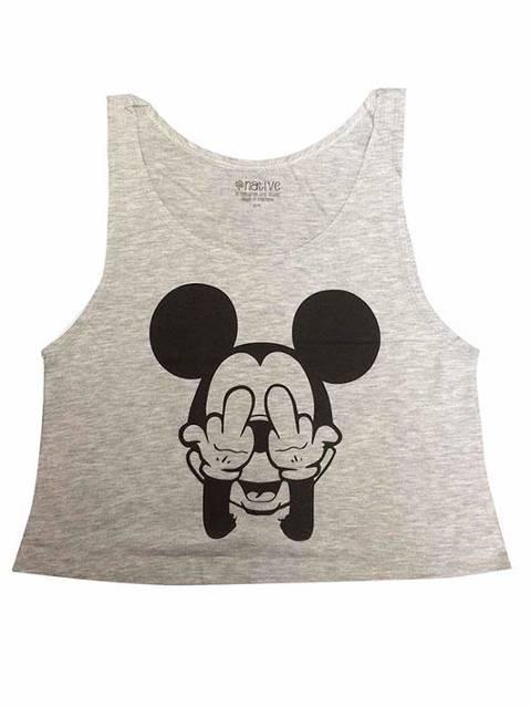 Mickey peineta gris
