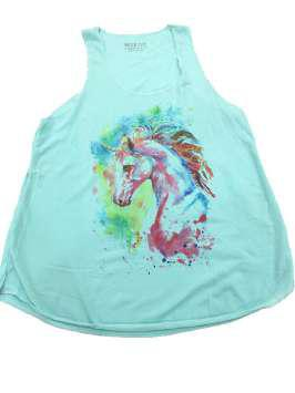 Cabeza unicornio turquesa