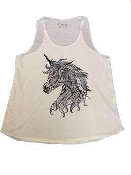 Unicornio blanco y negro