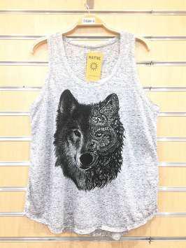 Lobo tribal gris